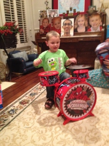 The woman hates me.  Wilma gave my son these drums.