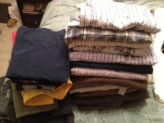 I can't believe I had this many shirts to give away.