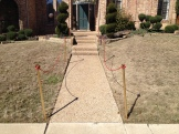 Here are the PVC stanchions I worked on yesterday