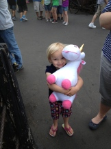 Went to Six Flags. I always win a prize for my baby girl.