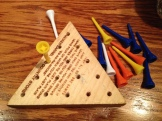 Dinner at CrackerBarrel. Finally figured this game out (thanks to the Google app).
