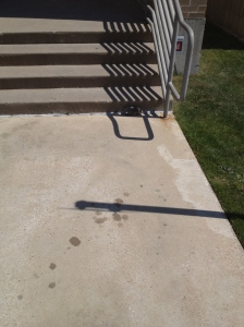 Look carefully at the base of the steps...