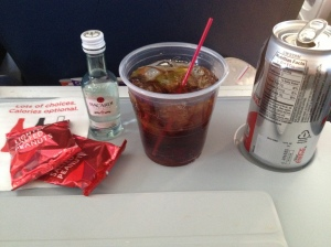 Whatever gets you through...  This apparently gets me through a Delta flight through the very unfriendly skies.