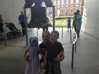 My daughter wanted to ring the Liberty Bell. I almost had a heart attack.