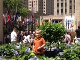 The boy in the Channel Gardens (Rockefeller Center).
