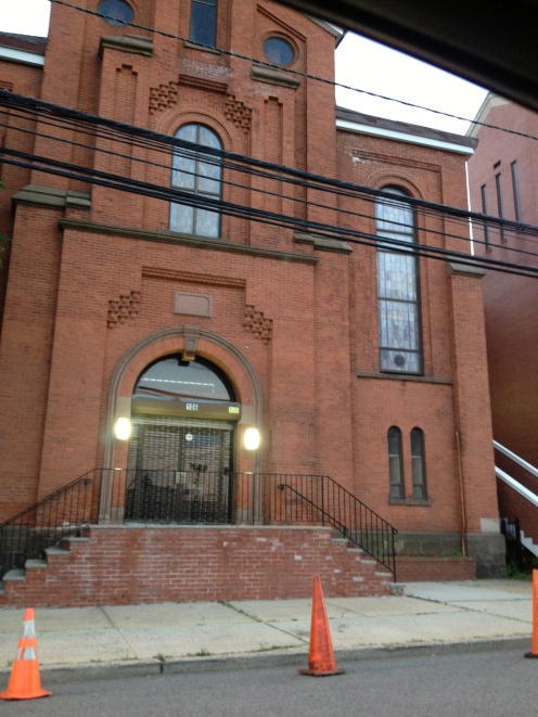 While driving around that evening I decided to show my wife the church where Whitney Houston's funeral took place.