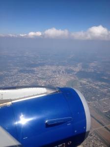 Look carefully, it's Big D from ten thousand feet!