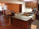 Returned from the trip just in time to watch our countertops installed!
