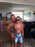 Me and Big Man headed to the pool.