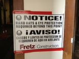 This was kind of a sign that we needed to leave. Clearly, we lacked hard hats.