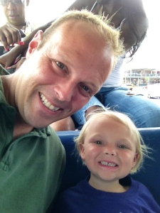 Me and Baby Girl (both smiling) on the Duck Boat.