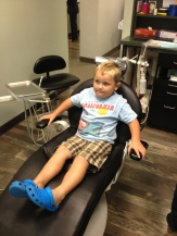 Discovering the joy of a dentist's chair.