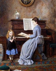 "Not my actual daughter, though the expression is spot-on. George Goodwin Kilburne's ""Piano Lesson"" (courtesy: Wikimedia Commons)"