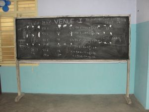Not that kind of blackboard.  Does anyone even use these anymore? Courtesy: Wikimedia Commons