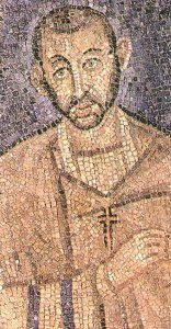 Lovely mosaic of our forlorn hero, Ambrose. Courtesy: Wikimedia Commons (pub. dom.)