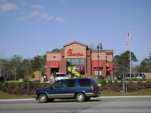 Random Chick-fil-a.  This one has a playground. Courtsey: Wikimedia Commons (pub. dom.)