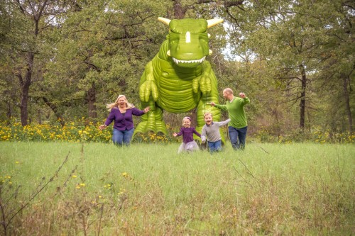Family...  Running from a large dinosaur in North Texas really has defined us as a unit.