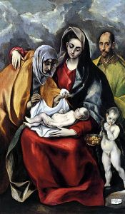 El Greco's Holy Family Courtesy: Wikimedia Commons (public domain)