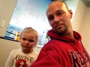 """Waiting for the strep results.  Glad she's a """"brave"""" girl."""