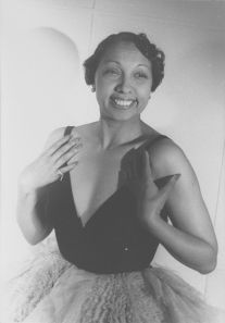 Josephine Baker.  She sang at a cabaret in the Big Apple in a  teddy.