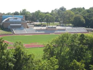 Not the actual track we ran on but you get the picture. Courtesy: Wikimedia Commons, public domain