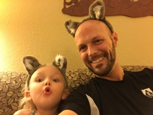 Day 21.  In addition to the great bushiness that is my awesome beard, my daughter and I seem to have sprouted wolf ears.